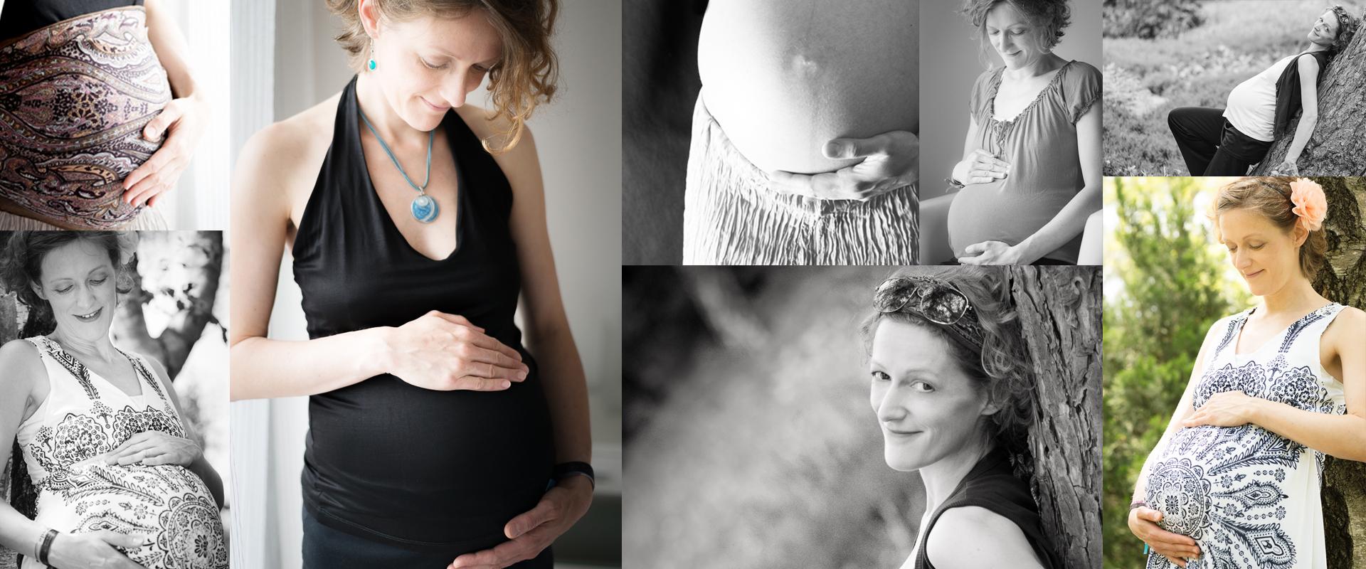 Collage Babybauchfotos
